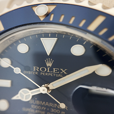 Men's Rolex. Submariner. Blue Dial. Blue Bezel